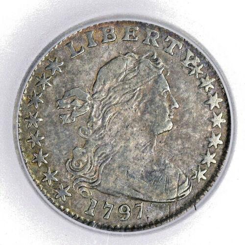 1797 DRAPED BUST HALF DIME - ICG VERY FINE VF25 -  PROBLEM FREE! SALE!