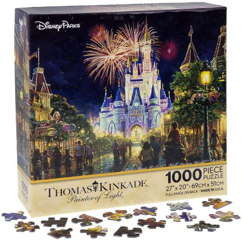 Main Street USA Walt Disney World Resort Castle Puzzle by Thomas Kinkade