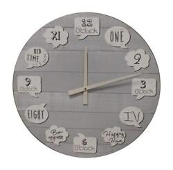 Ganz E1 Home Decor Lodge Lake Large Wooden Wall Clock 23in ER52924