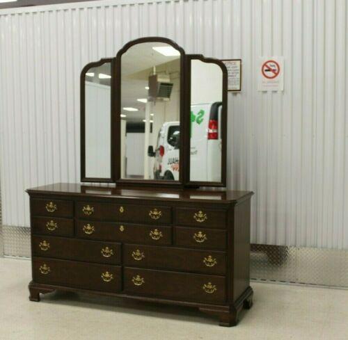 Drexel Vintage Cherry Collection Lowboy Dresser With Mirror #124-130 1