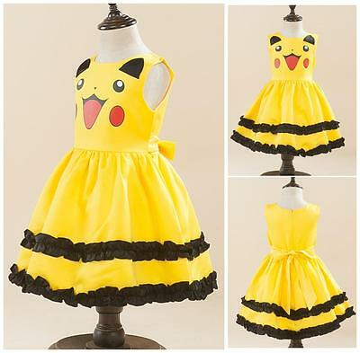 Parade Pikachu Costume Japan Cosplay Pokemon Girls Dress Toddlers Princess Party