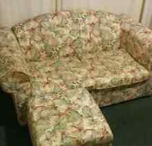 free two seater lounge w ottoman and the table Battery Point Hobart City Preview