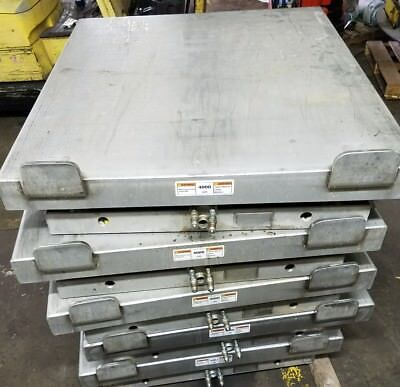 Mepaco Usda 4000 Lb Hydraulic Pallet Scissor Lift Table 42x48 Ez4000