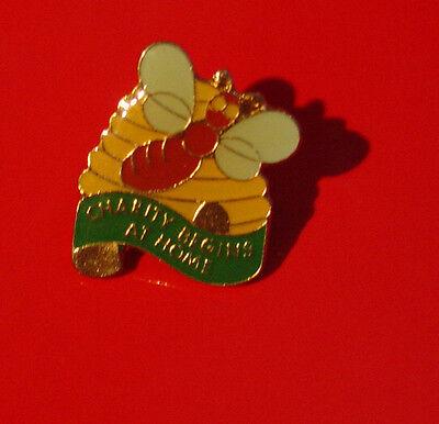 charity begins at home enamel pin badge