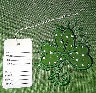 Garment Tags Large Price Tags Wstrings White Perforated Strung 1-34 X 2-78