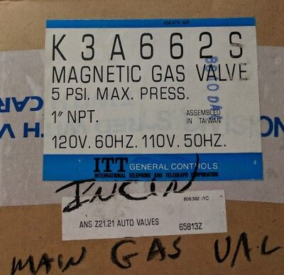K3a662s Magnetic Gas Valve