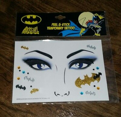 Batgirl Halloween Costume Accessories (DC COMICS BATGIRL Peel & Stick Temporary Tattoo Accessories Batman)