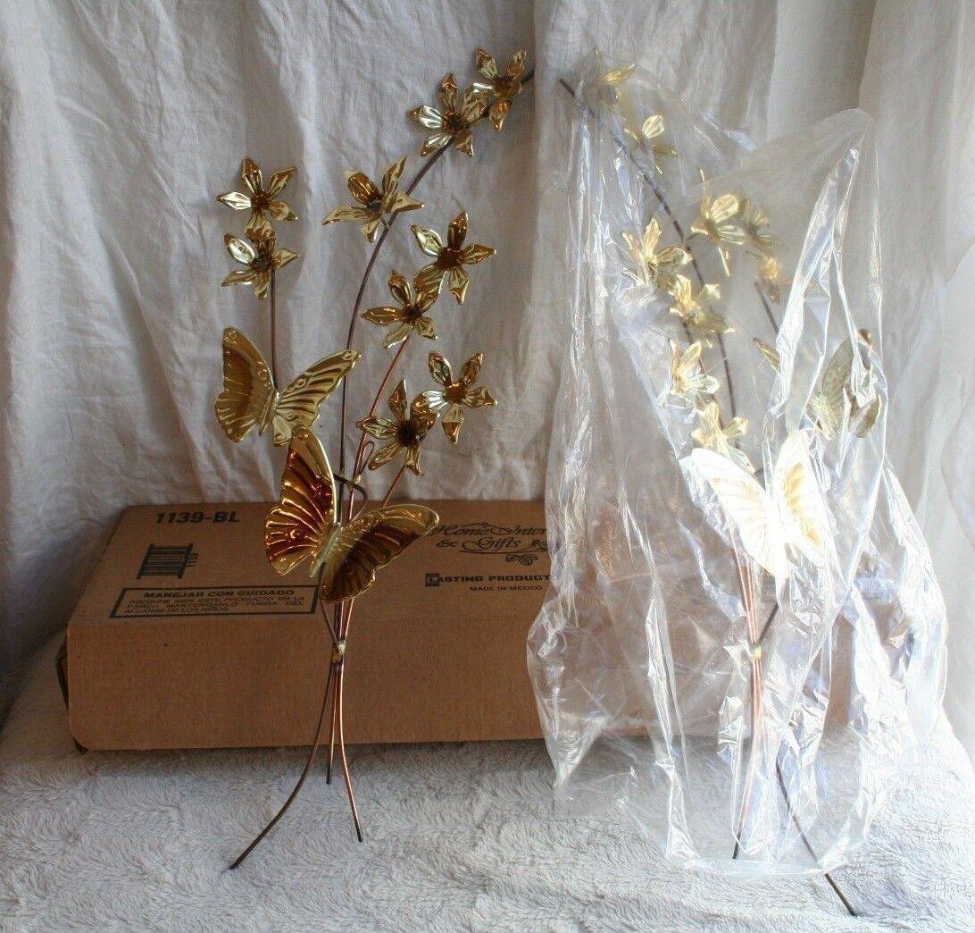 home interior brass butterfly butterflies wall hangings