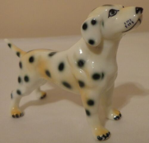 "VINTAGE DALMATION DOG PUPPY FIGURINE FIGURE BONE CHINA PORCELAIN CERAMIC 4.5"""