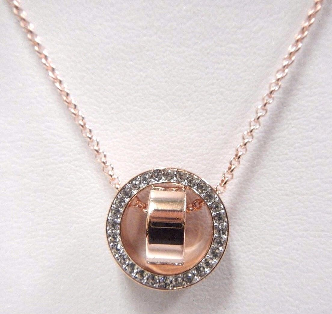 28772add114c6 HOLLOW PENDANT SMALL WHITE ROSE GOLD PLATING 2017 SWAROVSKI JEWELRY ...