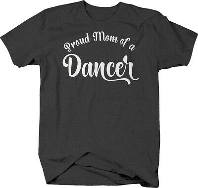 Dance Mom T-shirt - Proud mom of a dancer cursive dance competition T-shirt for women