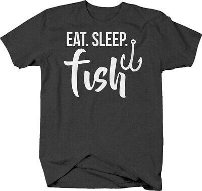 Eat Sleep Fish hook fishing fisherman river salmon trout walleye Tshirt for Men