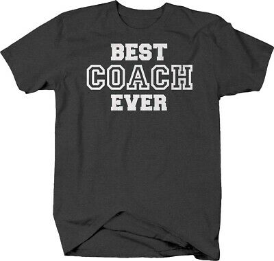 Best coach ever sports amazing varsity T-shirt for men