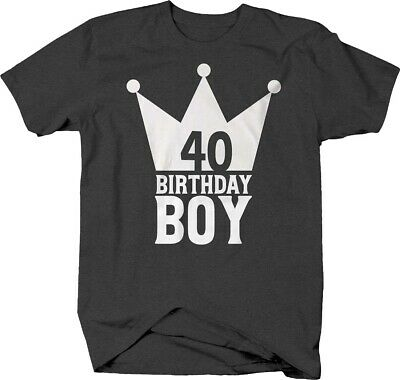Birthday boy caps 40 crown forty getting older celebrate Tshirt for Men