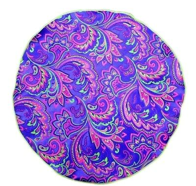 Lord R Colton Masterworks Pocket Round Vesuvio Eggplant Silk - $75 Retail New