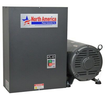 Rotary Phase Converter Pl-40 Pro-line 40hp - Built-in Starter Made In Usa