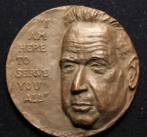 UNITED STATES UNITED NATIONS 1961 DAG HAMMARSKJOLD DEATH LARGE HEAVY MEDAL  N135