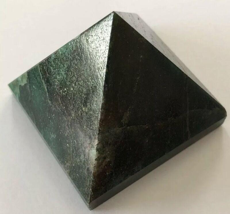 Natural Untreated Mountain Jade Pyramid