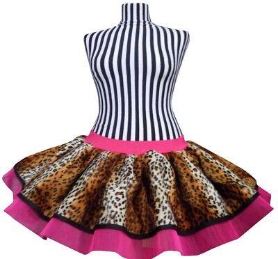 Neon Tutu Skirt I LOVE 80s Fancy Dress Hen Party Fun Run Leopard Pink Plus Size