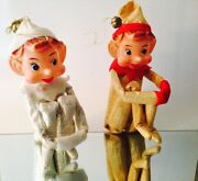 Vintage Christmas Elves Pixie