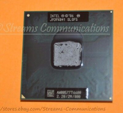 Intel Core 2 Duo Mobile T6600 2.2GHz Laptop CPU Processor for Dell Inspiron 1545 for sale  Shipping to South Africa