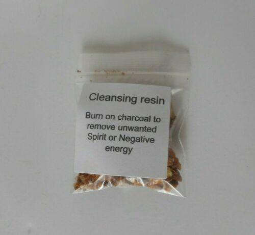 Cleansing resin incense ( remove unwanted spirit or negative energy)