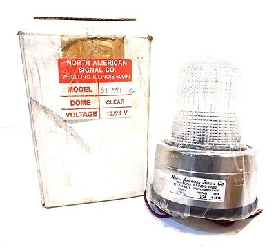 New North American Signal Company Stm1-c Clear Strobe Stm1c