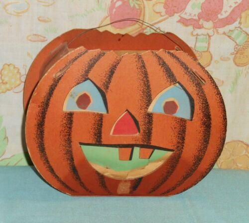 vintage Dolly Toy Co. cardboard HALLOWEEN LANTERN pumpkin jol jack-o-lantern