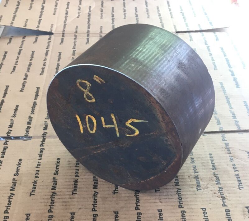 "8"" Solid Steel Round Bar Lathe Stock Machining Blacksmithing 1045 Steel"