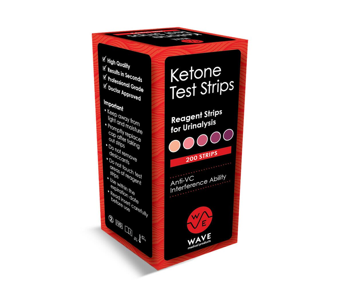 NEW HIGHEST ACCURACY 200 Ketone Test Strips Urine Ketosis At