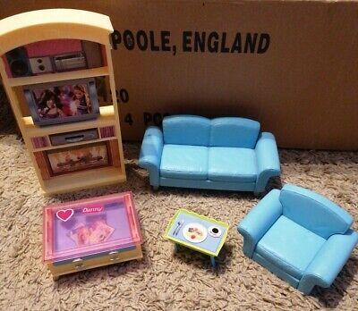 Mattel Barbie Doll Living Room Furniture Set 2002