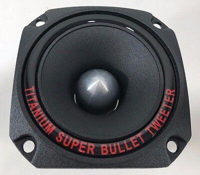 "2 New Pyramid TW44 1/"" 600W Heavy Duty Titanium Dome Bullet Car Super Tweeters"