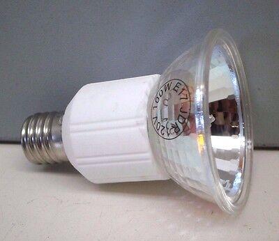 (4) JDR 100-Watt 120-Volt Halogen Lamp Clear Light Bulb E17 Screw Base 120V 100W Base Clear Halogen Lamp