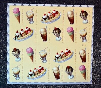 2016USA 5093-5097 FOREVER SODA FOUNTAIN FAVORITES - SHEET/BOOKLET OF 20 - USPS