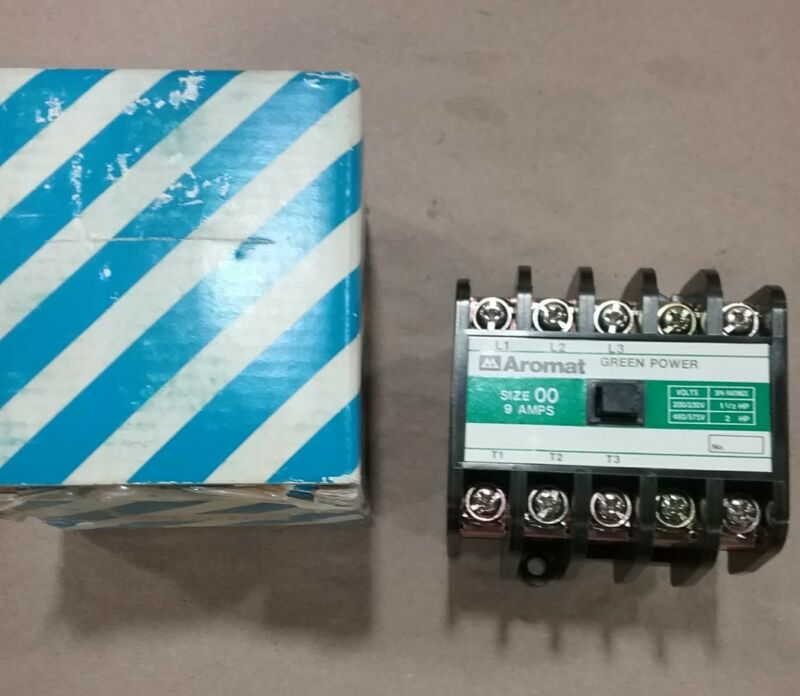 AROMAT GREEN POWER CONTACTOR  Size 00 3 PH 9 A 460/575V #027C11