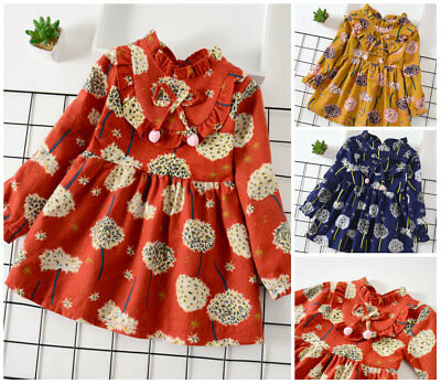 Fall Party (1PC baby girls clothes kids girl long sleeve dress fall daily party)