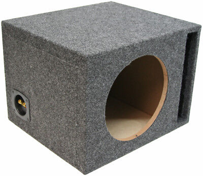 - Single 12-Inch Ported Subwoofer Box Car Audio Stereo Bass Speaker Sub Enclosure