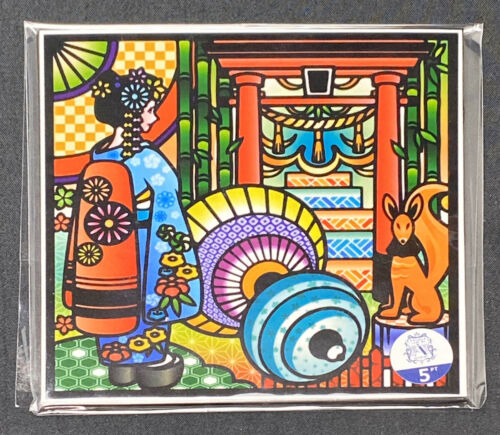 Shine carving kit   Japanese Shrine  Carved stained glass style decoration
