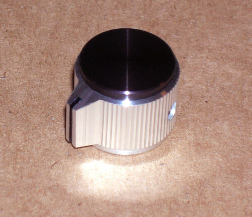 "Alcoknob model KPN-700A-B aluminum knob ~ 3/4"" diameter - 1/4"" shaft ~ NEW-NOS!"
