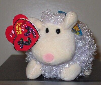 Ty 2.0 Beanie Baby ~ SHEARSLY the Purple Lamb - MWMT'S ~ Stuffed Animal Toy