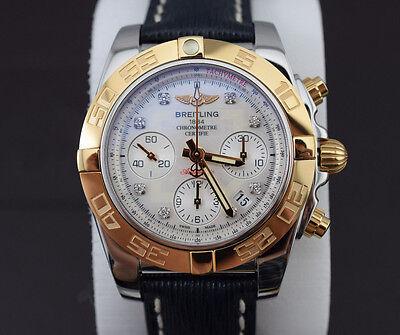 Breitling Chronomat 41 B01 Steel / 18K Diamond Men's Watch CB0140