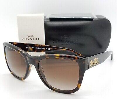 fabc5f693f32 New Coach sunglasses HC8243 541713 Dark Tortoise Brown Gradient AUTHENTIC  8243