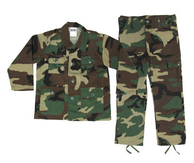 Kids Woodland BDU Uniform Set - Kids Military Halloween Costume - Various Sizes - Military Kids Costumes