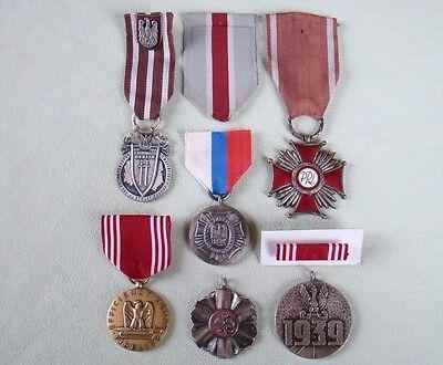 PL Abzeichen Konvolut - Polen - Orden - Medaillen - Ehrenabzeichen