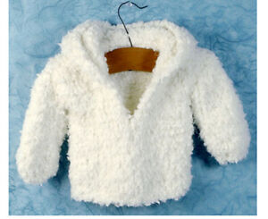 Knitting Pattern-Baby Very easy knit hooded Jacket in nice thick wool