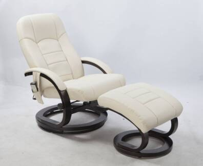 massage chair good guys. pu leather massage chair recliner ottoman lounge remote[v63-77196 good guys