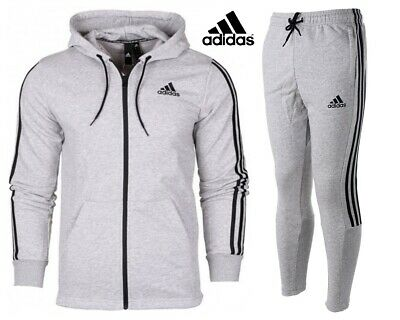 Adidas Mens Hoodies Tracksuit Bottoms Hoody 3-Stripes Joggers Fleece Sweatshirt