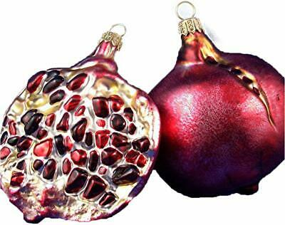Pomegranate Half Exotic  Fruit Food Glass Christmas Tree Ornament Poland  220005 ()
