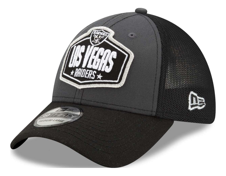 New Era - NFL Las Vegas Raiders 2021 Draft 39Thirty Trucker Stretch Cap - Mehrfa