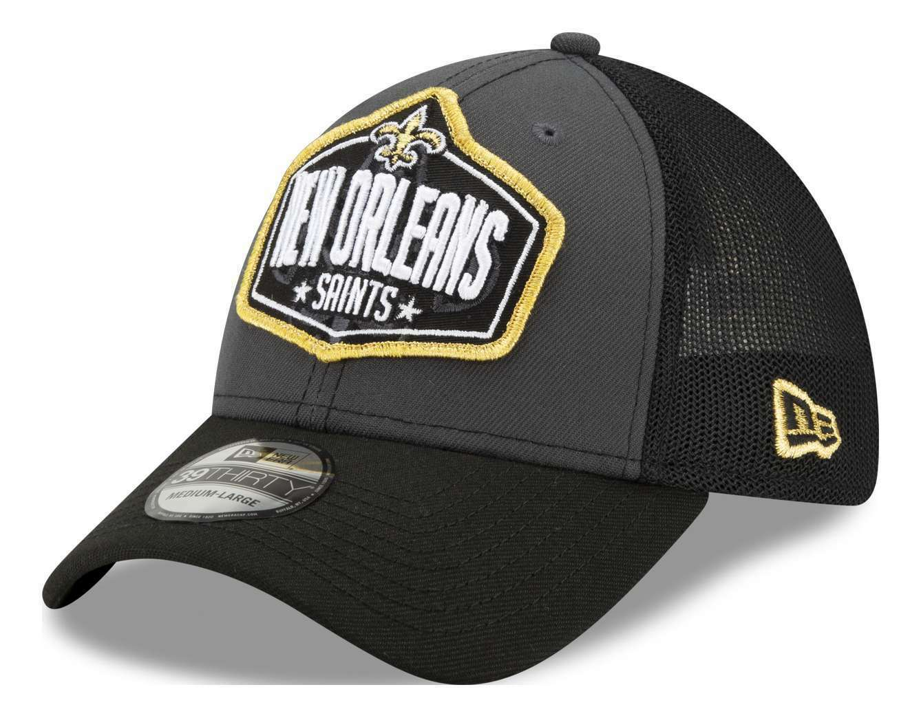 New Era - NFL New Orleans Saints 2021 Draft 39Thirty Trucker Stretch Cap - Mehrf